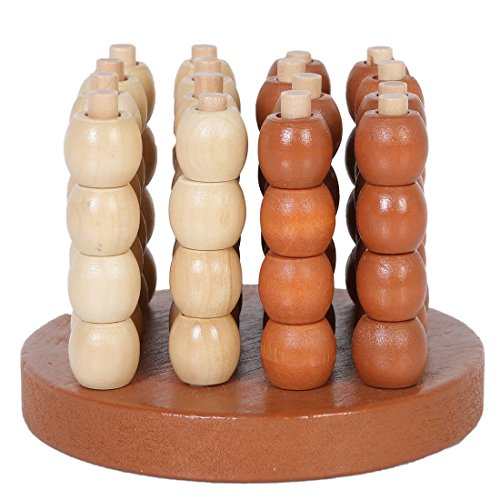 Wooden 3D Connect four Chess Spatial Thinking Games SZQ-01