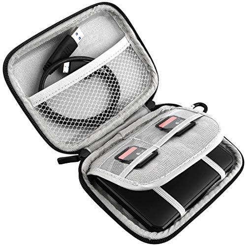 Bascar - Funda rígida portátil para Disco Duro Externo Seagate Backup Plus Slim 1 TB 2 TB 4 TB (USB 3.0, cámara GPS de 2,5 Pulgadas y batería Externa)