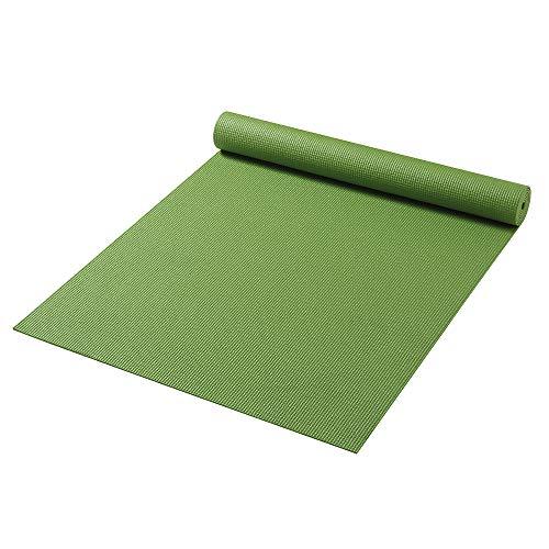 Friedola 74010 - Esterilla para Yoga, Gimnasia, colchoneta de Yoga, Pilates, Fitness, Verde, 61x180x0,4 cm