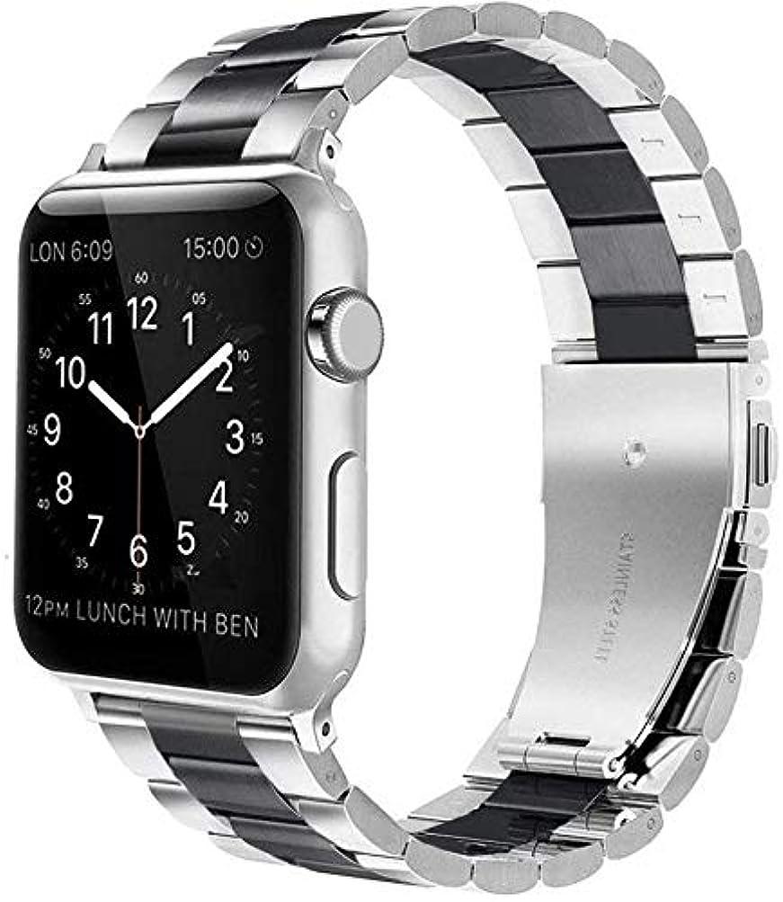 整理するポンプ呼び出すアップルウォッチ バンド Wollpo® Apple Watch band ステンレス アップルウォッチ ベルト ビジネス風 時計バンド アップルウォッチ バンド時計バンド 交換用ベルト アップルウォッチ交換ストラップseries 1 ...