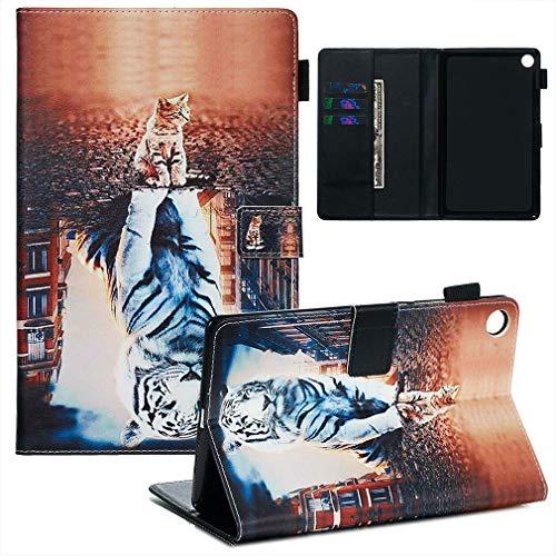 LMFULM® Hülle für Huawei MediaPad M5 (8,4 Zoll) PU Lederhülle Smart Hülle Cover Ständer Schutzhülle Flip Cover Reflexion