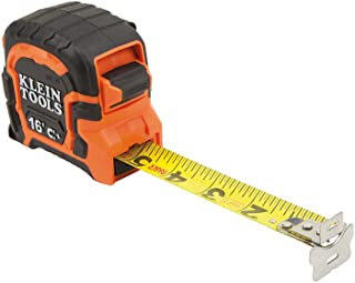 Tape Measure, 16-Foot Double Hook Magnetic with Finger Brake, Easy to Read Bold Lines Klein Tools 86216