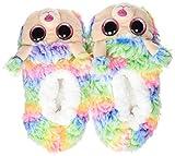 Ty – Zapatillas de Peluche Rainbow el Perro Caniche, (Multicolor), 30 EU