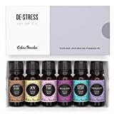Edens Garden De-Stress Essential Oil 6 Set, Best 100% Pure Aromatherapy Relaxation Kit (For Diffuser- Anxiety & Stress Relief), 10 ml