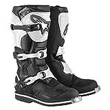 Alpinestars Unisex-Adult Tech 1 Boots Black/White Sz 16 (Multi, one_Size)