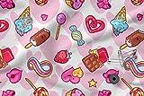 Bedruckte Baumwolle 100% Eco-Print Süßigkeiten Kawaii