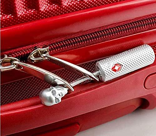 Candado para maleta de equipaje de viaje TSA con combinación de llaves, candado estilo calavera para equipaje