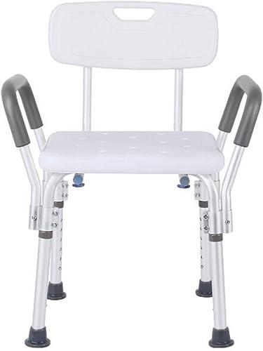 LIU BATHROOM Badewanne für Das ältere Badezimmer Anti-Rutsch-Bad Stuhl Erwachsenen Mehrzweck-Bad Hocker mit Rückenlehne mit Armlehnen Falten Bad Hocker