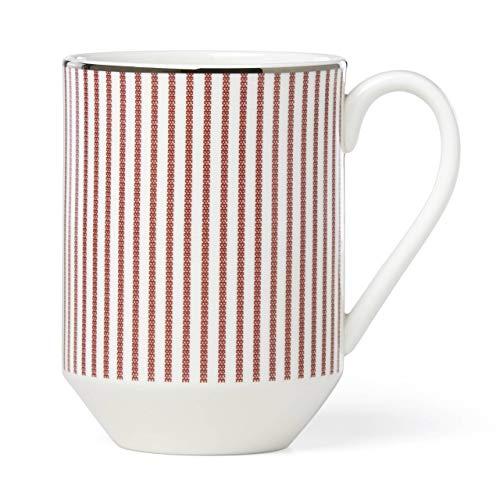 Kate Spade New York 882902 Laurel Street - Taza (porcelana), color rojo
