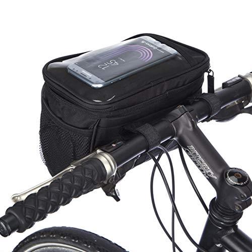 BTR Wasserabweisende Fahrradtasche und Handyhalterung mit durchsichtigem PVC-Fenster für Tablet oder Handy, zur Befestigung am Lenker BZW. Steuer- oder Oberrohr für Karten und Navigationssysteme - 5