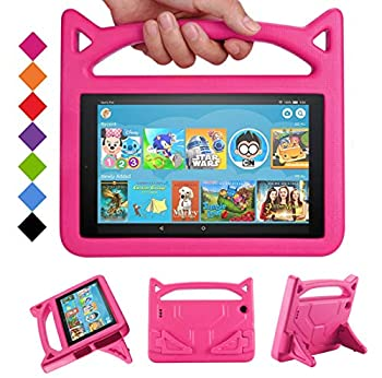 New Amazon Kindle HD 10 Tablet Kids Case Mr Spades Fire HD 10 Kid's Friendly Cases with Handle Stand Light Weight Shock Proof Covers for Latest Model Fire HD 10 Tablet  9th/7th/5th Generation