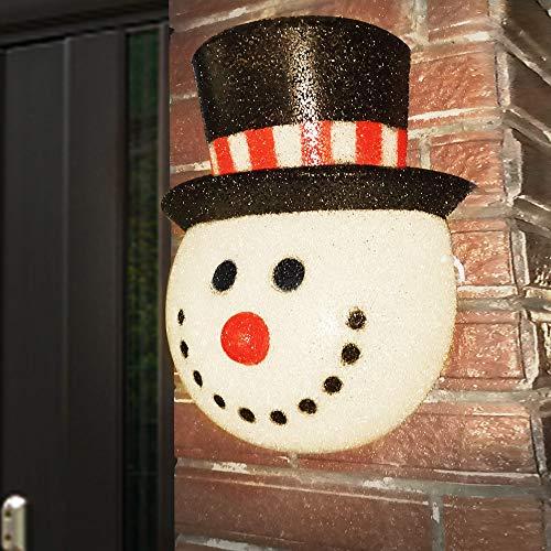 Joliyoou Snowman Porch Light Cover, 12' x 9.8' x 4' Christmas Outdoor Light Cover, Christmas Holiday Decorations Porch Light Covers for Garage, Porch, Front Door