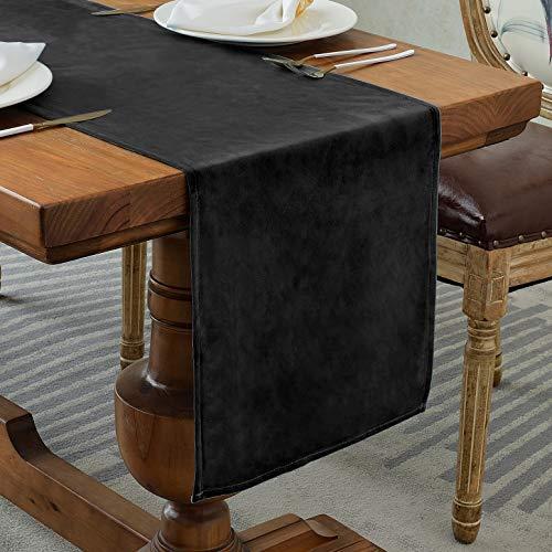 Balcony&Falcon Chemin de table moderne, aspect lin, lavable, élégant nappe de décoration de la table, pour l'intérieur et l'extérieur