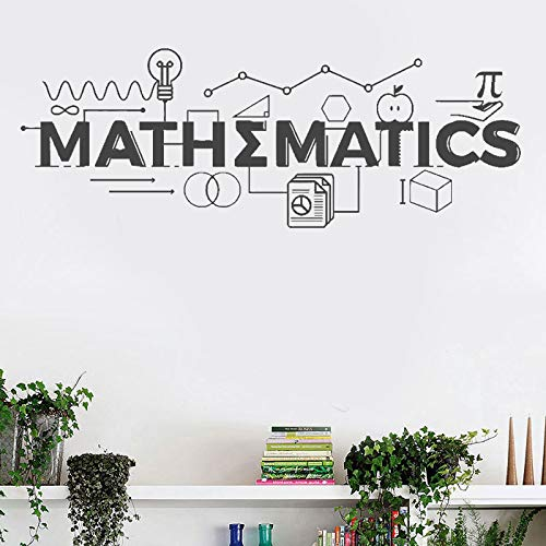ASFGA Einzigartige Mathematik Logo Wandmalerei Mathematik Bildung Wand Vinyl Aufkleber Klassenzimmer Dekoration inspirierende Poster Jugend Schlafzimmer Wandkunst 57x21cm
