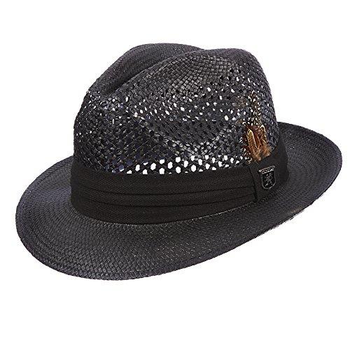 Stacy Adams Men's Pinch Front Vented Toyo Hat M Tan