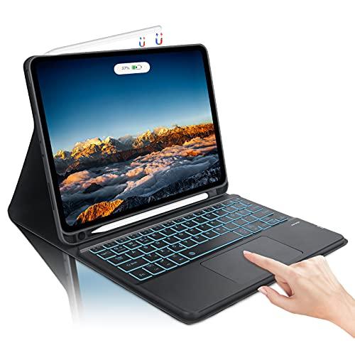AVNICUD Beleuchtete Tastatur Hülle mit Touchpad für iPad Pro 11