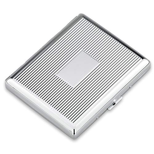 SILBERKANNE Zigarettenetui doppelseitig Hamburg 8,5x10,5x2 cm Silber Plated versilbert in Premium Verarbeitung