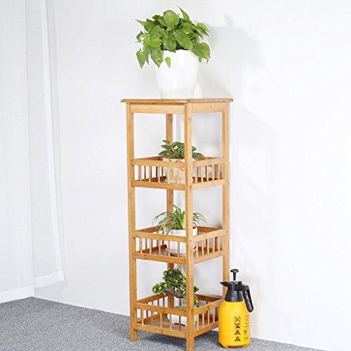 Udfybre Four-Tier Plant Bamboo Flower Frame Balcon Pot de Fleur Affichage Stand 100 * 33CM