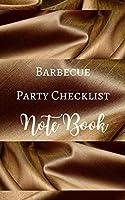 Barbecue Party Checklist Note Book - Brown Gold Luxury Silk White - Guest Shop Menu - Black White Interior