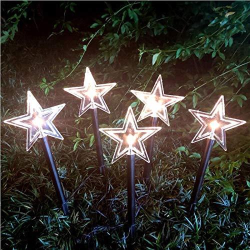 LZLZ LED Gartenstecker Schneeflocke Stern Tannenbaum-35 cm hoch-Drinnen und Draussen Weihnachtsbeleuchtung Weihnachtsdeko Gartendeko Gartenlicht Weihnachten Balkon Dekoration Lichter Kette (10, B)