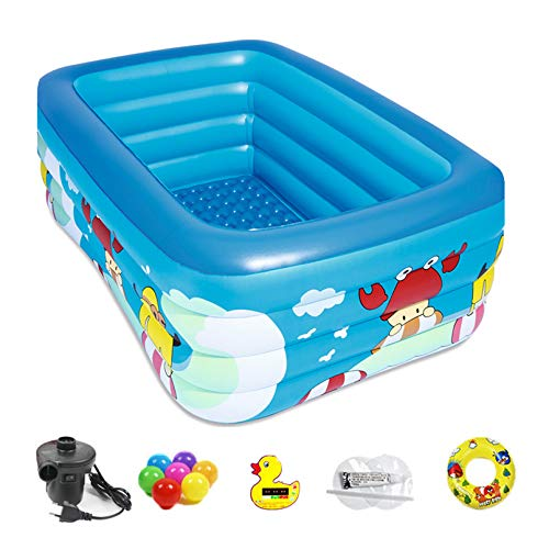 Dygzh Piscina Inflable, Piscina Inflable para Niños, Piscinas Familiares Tamaño Completo, Piscinas Familiares sobre El Suelo para Niños