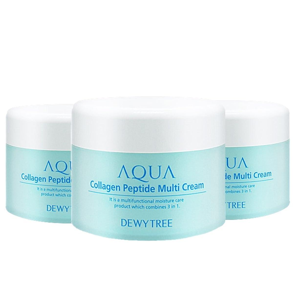 絶滅した大宇宙七面鳥(3個セット) x [Dewytree] デュイトゥリー アクアコラーゲン ペプチド マルチクリーム Aqua Collagen Peptide Multi Cream (50ml x 3) / [並行輸入品]