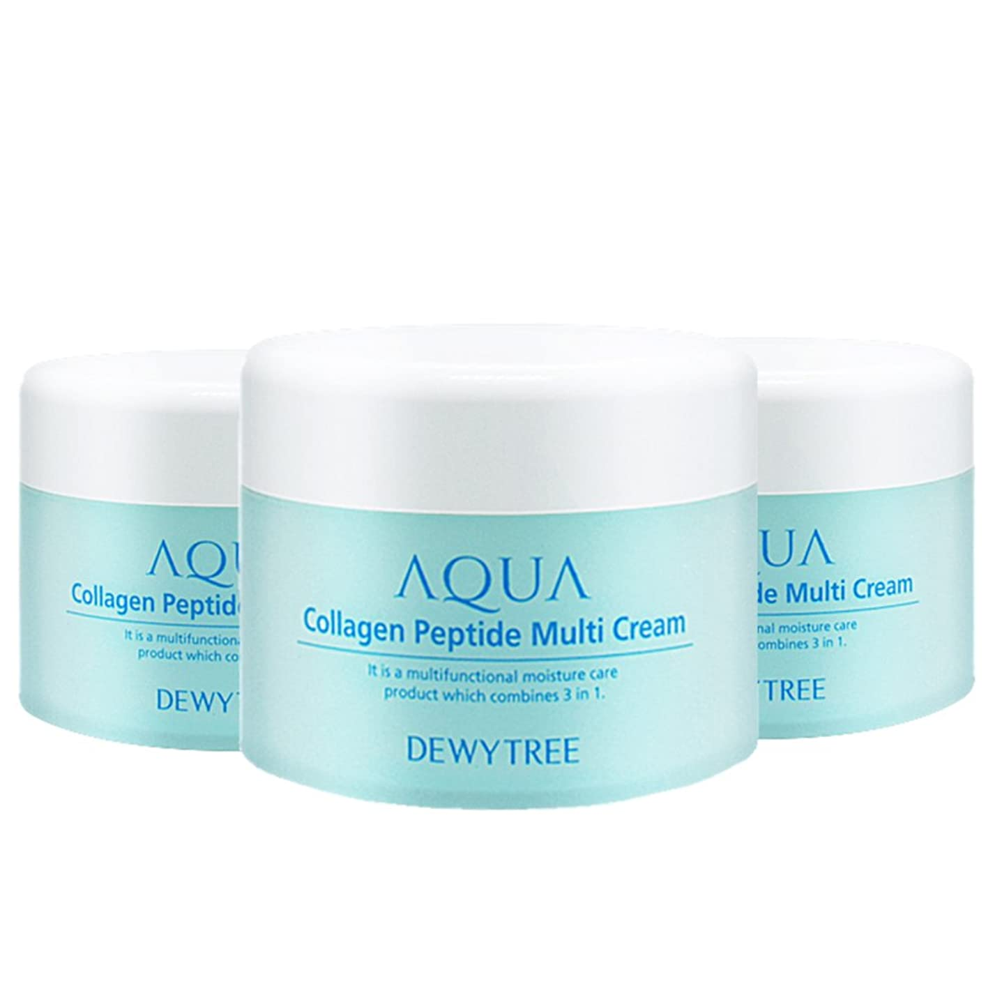 第九カトリック教徒火星(3個セット) x [Dewytree] デュイトゥリー アクアコラーゲン ペプチド マルチクリーム Aqua Collagen Peptide Multi Cream (50ml x 3) / [並行輸入品]