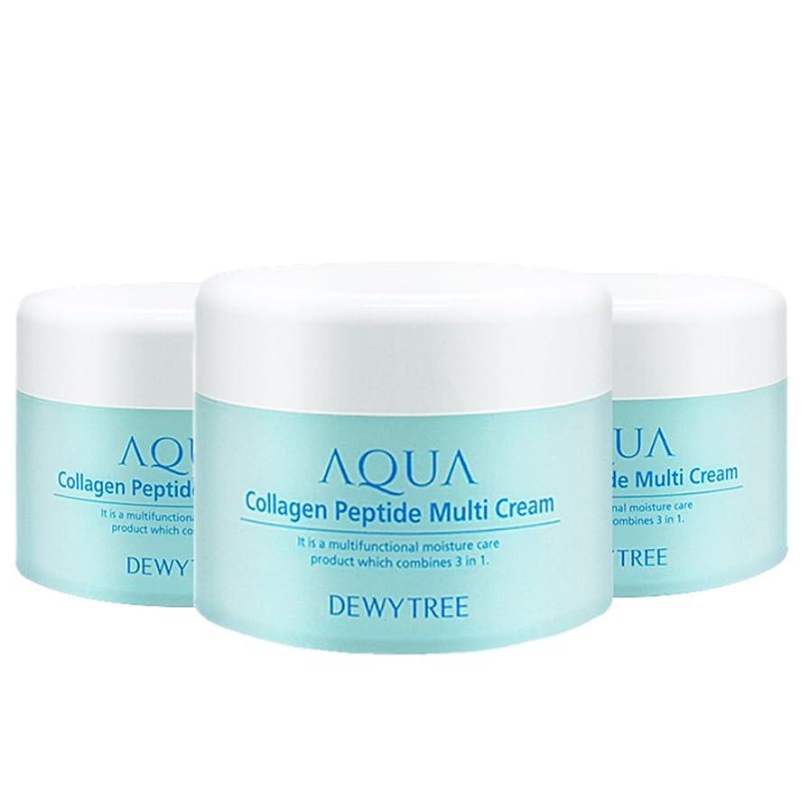 集中カトリック教徒なる(3個セット) x [Dewytree] デュイトゥリー アクアコラーゲン ペプチド マルチクリーム Aqua Collagen Peptide Multi Cream (50ml x 3) / [並行輸入品]