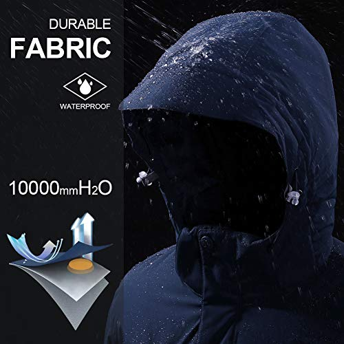 51Dtv9fRrOL. SS500  - CAMEL CROWN Men's Mountain Snow Waterproof Ski Jacket Detachable Hood Windproof Fleece Parka Rain Jacket Winter Coat