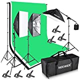 Neewer 8.5x10ft/2.6x3M Background Support System with Three 6X 9ft/1.8x2.8M...