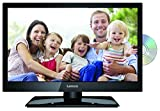 Lenco DVBT2 Fernseher DVL-1962BK 19 Zoll (47 cm) mit DVD-Player und DVB-T2, 12 Volt Kfz-Adapter