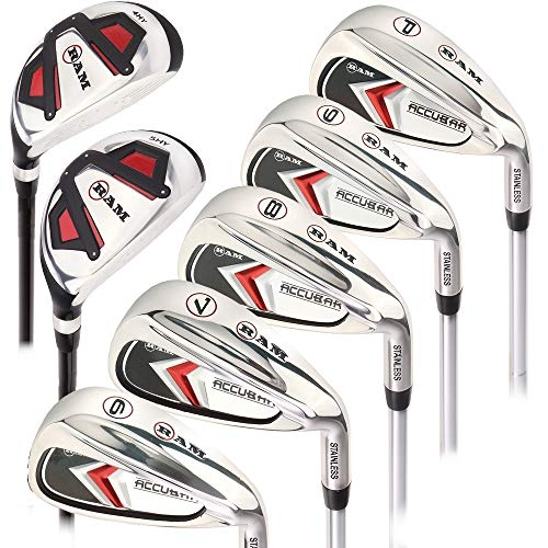 Ram Golf Accubar Mens Clubs Iron Set 6-7-8-9-PW with Hybrids 24° and 27° - Mens Right Hand