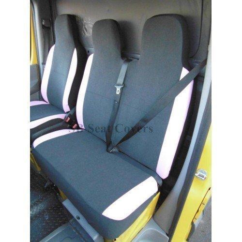 R - Adecuado para furgonetas de distribución de CITROEN y fundas de asiento, ROSSINI CHARLTON GRIS ANTE / ROSINO / ROSSA PVC BOLSTERS, S+D