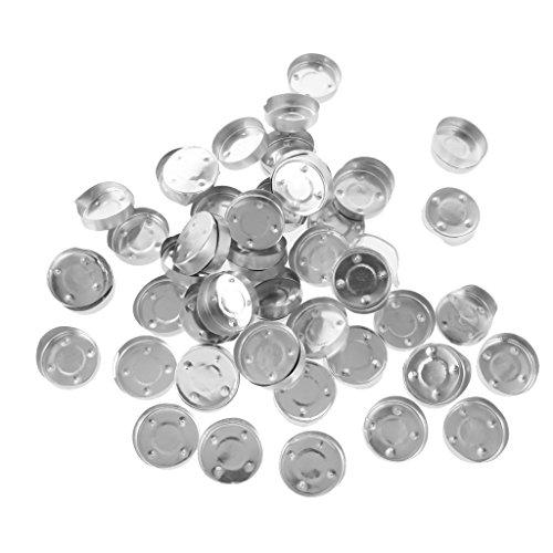 MagiDeal 100pcs Aluminiumtee Teelichthüllen leer Hüllen - Farbe 1, 1.5x0.4inch