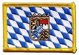 Flaggen Aufnäher Deutschland Bayern mit Wappen Fahne Patch