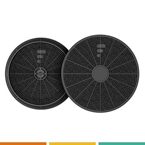 Kohlefilter / Aktivkohlefilter für Dunstabzugshaube FC05 - 2 Stück - passend für 145mm - ACM14 – CR310 – filk57772
