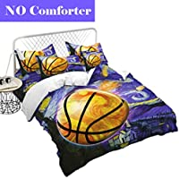 Junsey Colorful Basketball Bedding Set 3D Oil Painting
