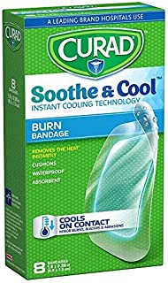 Curad Soothe and Cool Clear Gel Bandages, 8 Count (Pack of 6)