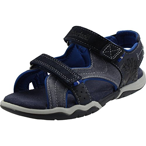 Timberland E6324 Sandalo Bimbo Blu Park Hopper Scarpe Shoe Baby Kid Boy [24]