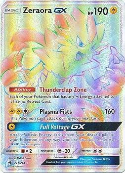 Pokemon Singles - Zeraora GX - 221/214 - Secret Rare - Lost Thunder