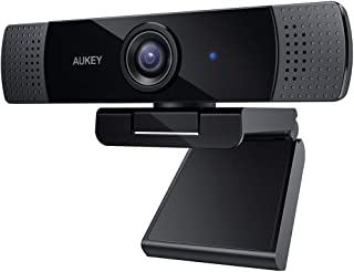 AUKEY FHD Webcam, 1080p Live Streaming Camera with Stereo Microphone, Desktop or Laptop USB Webcam for Widescreen Video Ca...