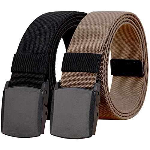 WYuZe Elastic Stretch Belt Mens Outdoor Military Work Hiking Belt Fit Waist 28-50'
