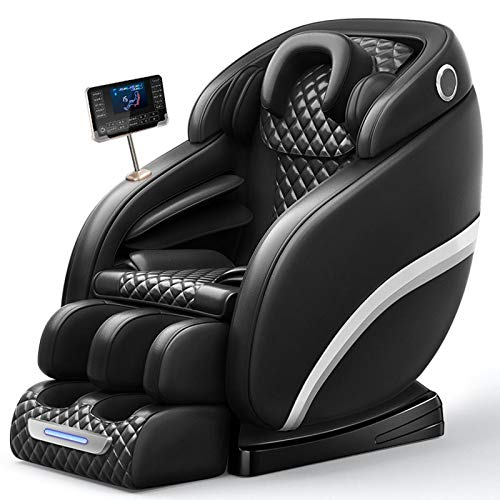 Lzour Massage Chair, Zero Gravity Massage Chair, Full Body Shiatsu Massage Recliner with Heat Function, Foot Roller, Elastic Calves Section,Black