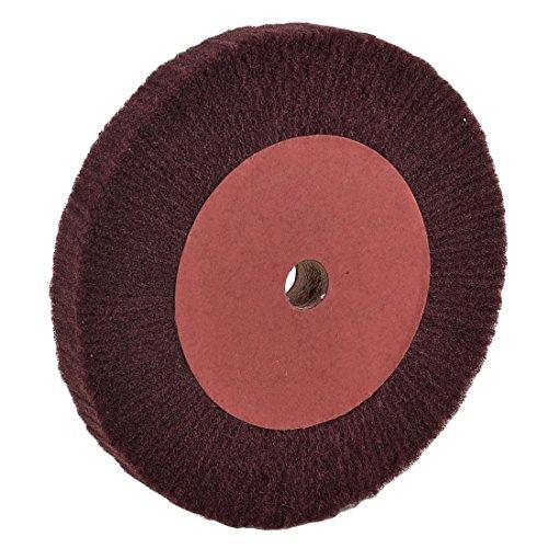 Amoladora de abrasivos de fibra de núcleo de madera de burgoña, 205 x 20 x 25 mm