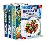 Mediterranean Pescatarian Diet Cookbook: 4 Books in 1: 280 Recipes For Fish Seafood And Healthy European Dishes (English Edition)