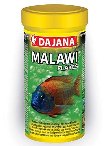 Dajana Malawi Flakes Cichliden Barsch Mbuna Spirulina Flocken Fisch Grün Futter (1000 ml)