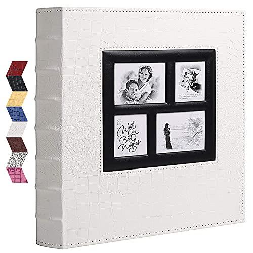 Vienrose Album Photo Traditionnel pour l'insertion de 600 photos au format 10x15 cm Grand Format Couverture en Cuir pour Les Vacances de Mariage en Famille