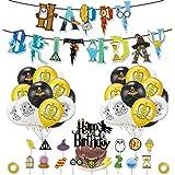 Mago Cumpleaños Fiesta Decoracion Temática,Harry Potter Cumpleaños Decoracion,Artículos de Fiesta para Harry Potter Suministros,Halloween Fiestas Suministros para Celebraciones de Magos