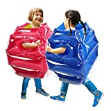 SUNSHINEMALL 2PC Bumper Balls, Inflatable Body Bubble Ball Sumo Bumper Bopper Toys for Kids 25.2' - Heavy Duty Durable PVC Vinyl Suits for Grassland or Other Outdoors Play (2PC Blue+Pink 26inch)