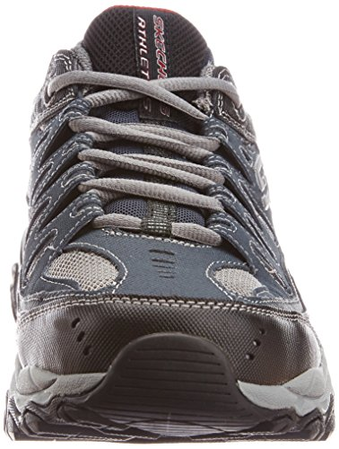 Skechers mens Afterburn Memory Foam Lace-up fashion sneakers, Navy, 12 US